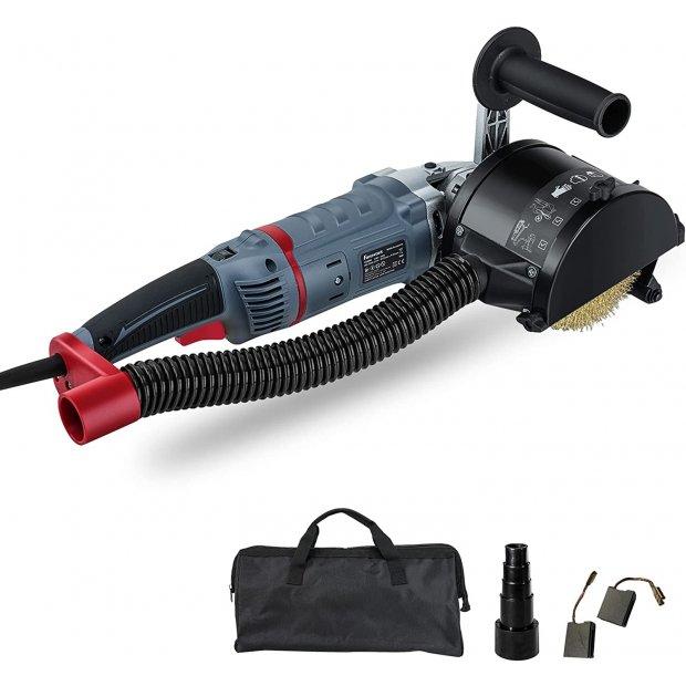 FANZWORK 1500 Watt Satiniermaschine Schleifmaschine Bürstenschleifgerät zur Renovierung von Oberflächen aller Art, mit Staubsaugung-Anschluss, Drehzahlregelung