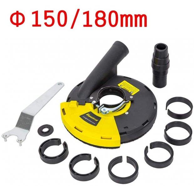 FANZTOOL universal Absaughaube für Winkelschleifer Betonschleifer mit 150 180 mm Durchmesser