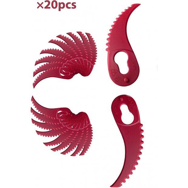 FANZTOOL Ersatzmesser-Set Rasentrimmer-Zubehör Rasentrimmermesser für FANZTOOL 20V Rasentrimmer 20Stk. (Mit Zähne)